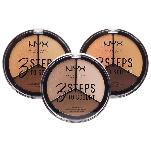 nyx~三步驟修容粉餅(5gx3色) 款式可選修容/修容粉餅/化妝品