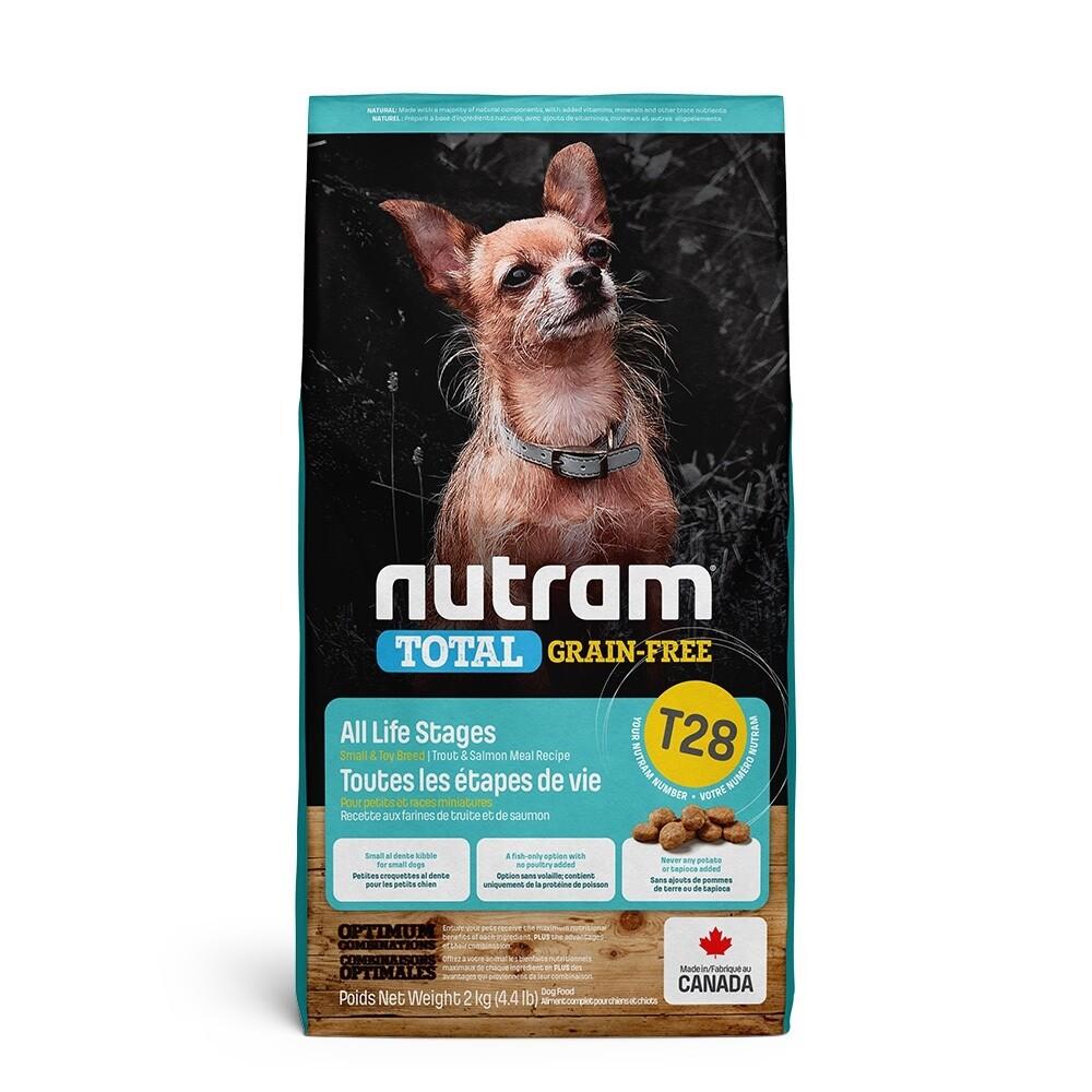 nutram紐頓 - t28無榖挑嘴全齡迷你犬[鮭魚+鱒魚]5.4kg