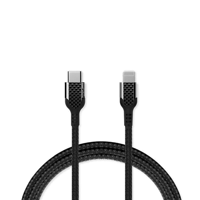 碳纖維 USB-C to Lightning 快速充電傳輸線