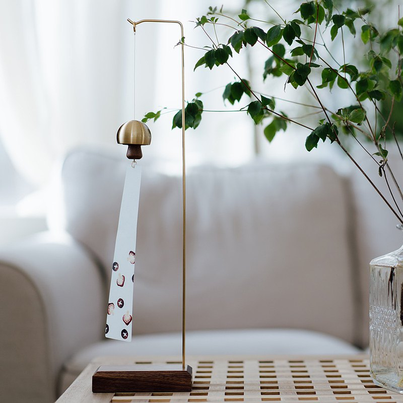 風鈴|蘑菇-黃銅本色 風鈴+支架