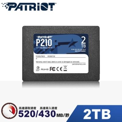Patriot美商博帝 P210 2TB 2.5吋 SSD固態硬碟