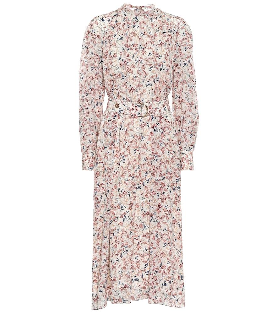Floral silk georgette midi dress