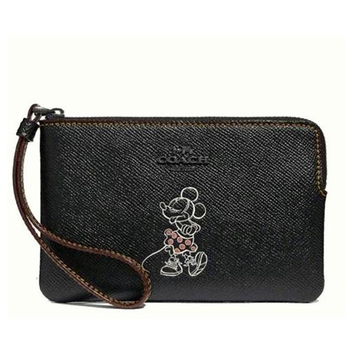 COACH x 迪士尼聯名款米妮款手拿包-黑