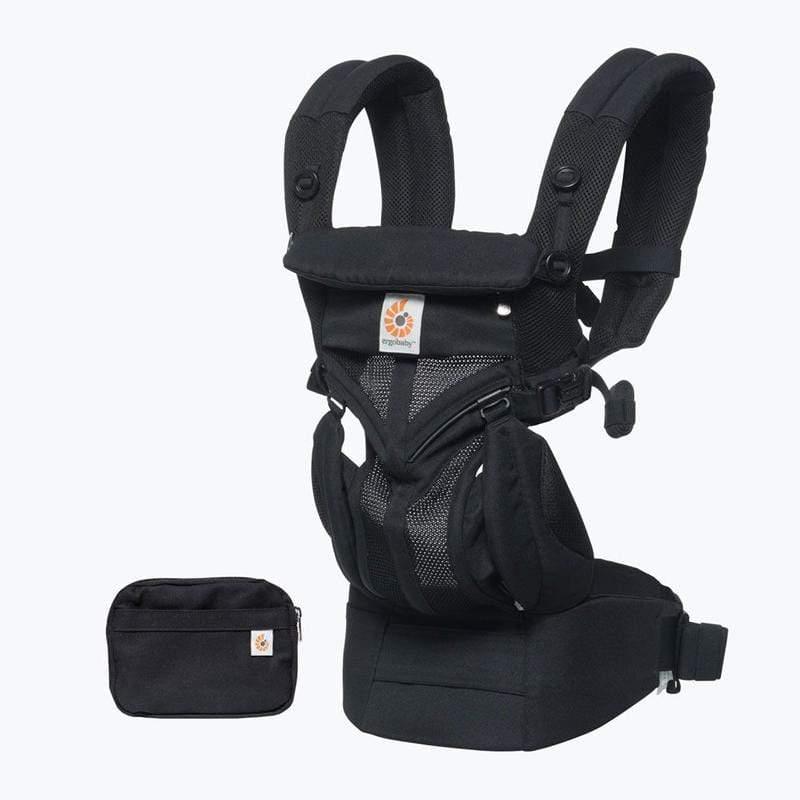 Omni全階段型四式360透氣款嬰兒揹巾/揹帶-黑瑪瑙 F
