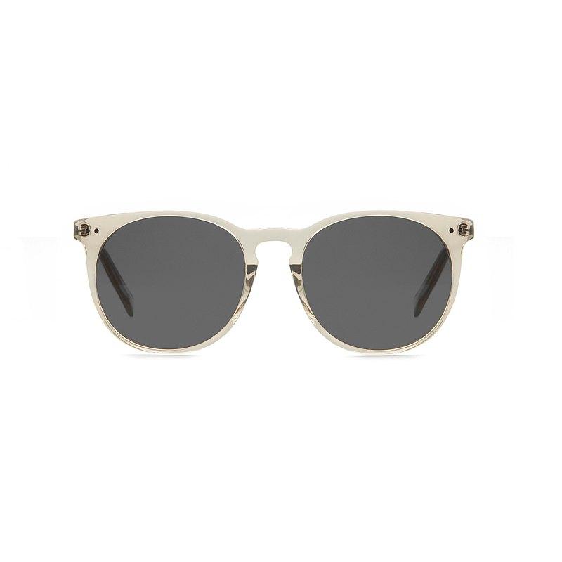透杏色板材墨鏡抗UV400太陽眼鏡-深灰鏡片  禮物| 夏裝