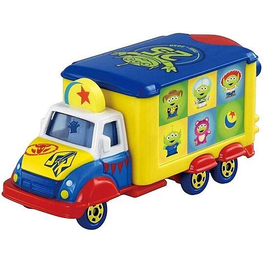 小禮堂 TOMICA多美小汽車 迪士尼 玩具總動員 25週年宣傳車 玩具車 模型車 (藍黃) 4904810-16069