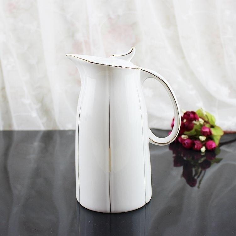 油壺 1升超大容量陶瓷家用防漏油壺廚房大號油瓶 家居冷水壺涼水瓶【概念3C】