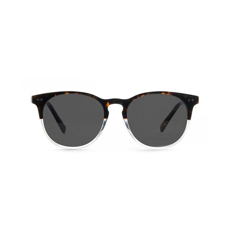 經典雙色板材墨鏡抗UV400-深灰/雷朋綠  禮物| 夏裝
