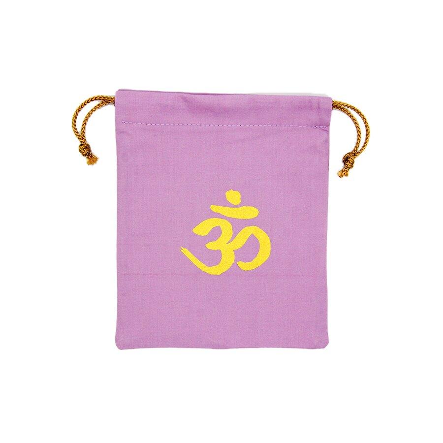 BUDMAYA精緻手工絹印束口袋OM款-薰衣草紫  純棉
