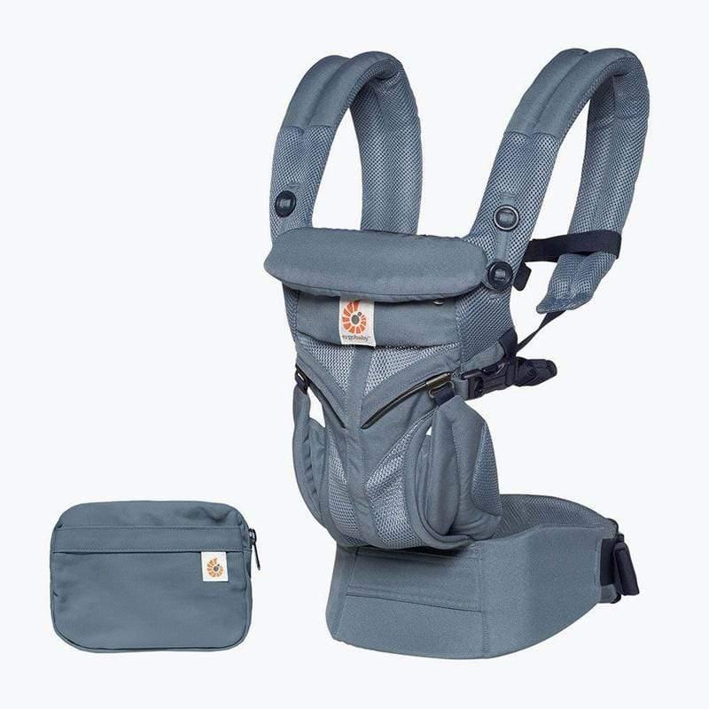Omni全階段型四式360透氣款嬰兒揹巾/揹帶-牛津藍 F