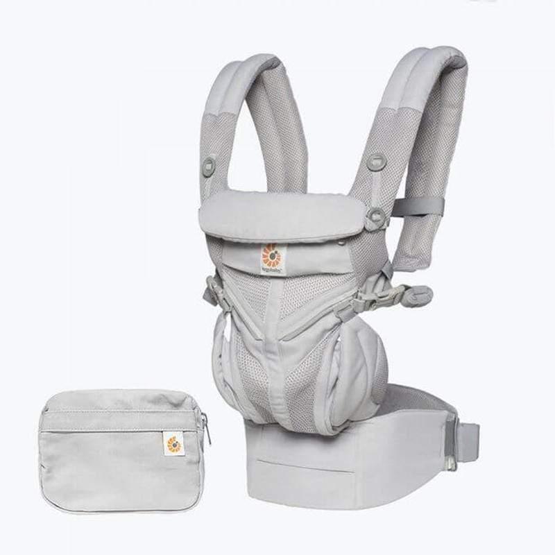 Omni全階段型四式360透氣款嬰兒揹巾/揹帶-灰色 F