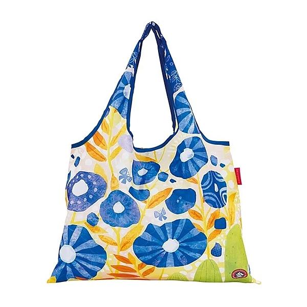【日本PrairieDog】環保隨身設計包 - 藍色花朵
