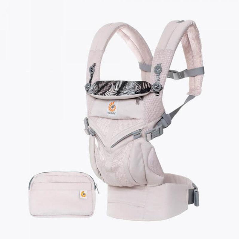 Omni全階段型四式360透氣款嬰兒揹巾/揹帶-粉色 F