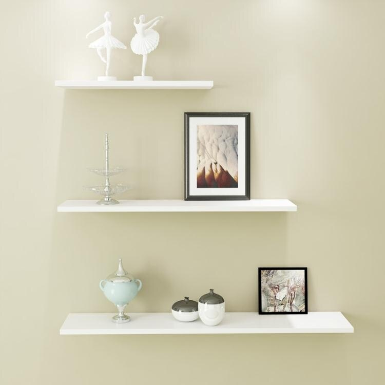 客廳置物架 墻上置物架客廳墻壁掛墻面一字隔板擱臥室書架免打孔簡約現代裝飾【概念3C】