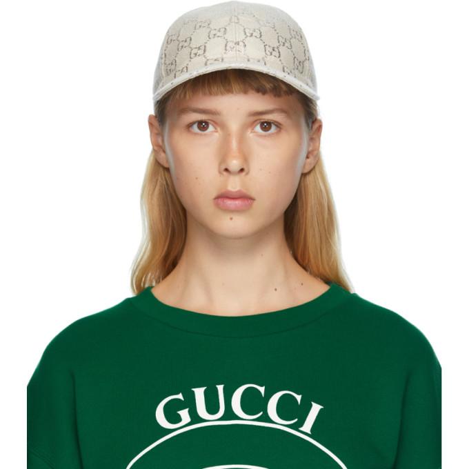 Gucci 驼色 GG 棒球帽