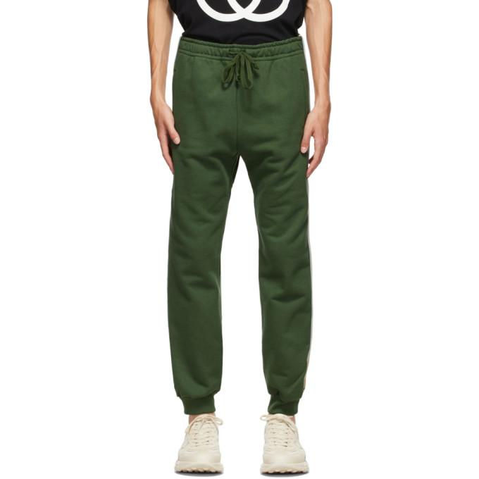Gucci 绿色抽绳运动裤