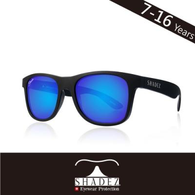瑞士 SHADEZ 兒童太陽眼鏡 【偏光-黑框湛藍 SHZ-403】7 - 16歲
