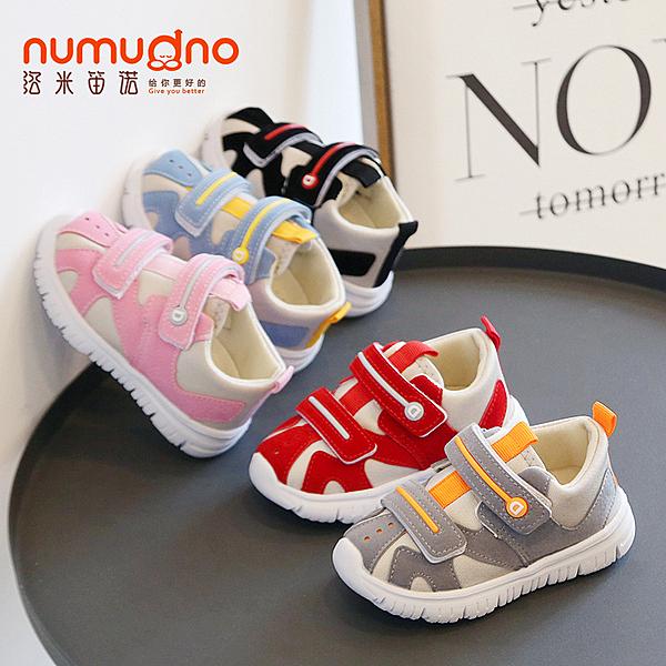寶寶鞋子男1-2-3歲5軟底學步鞋春秋透氣女防滑運動機能嬰幼兒童鞋