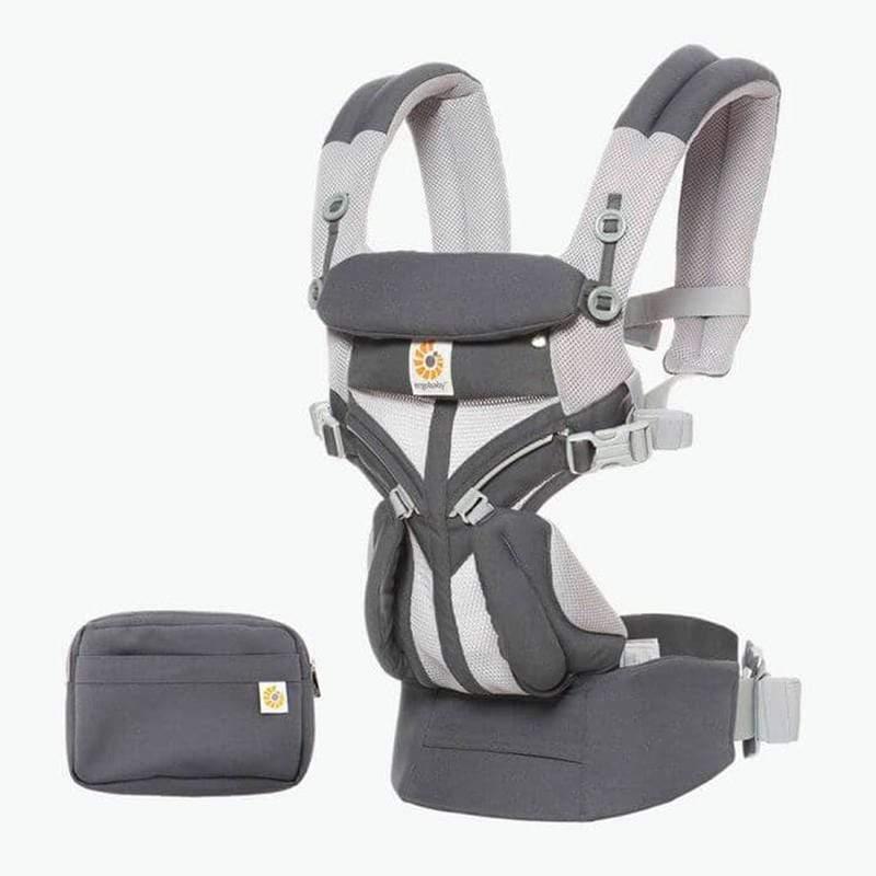 Omni全階段型四式360透氣款嬰兒揹巾/揹帶-碳灰 F
