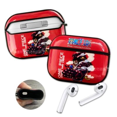 正版授權 航海王 AirPods Pro TPU彩繪耳機盒保護套(四檔魯夫)