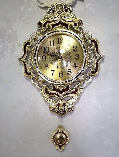 金屬鐘錶歐式靜音掛鍾家用時鐘電子表掛牆大氣石英鐘