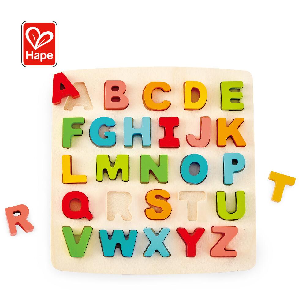 hape英文字母手抓板認知拼圖(配對玩具)
