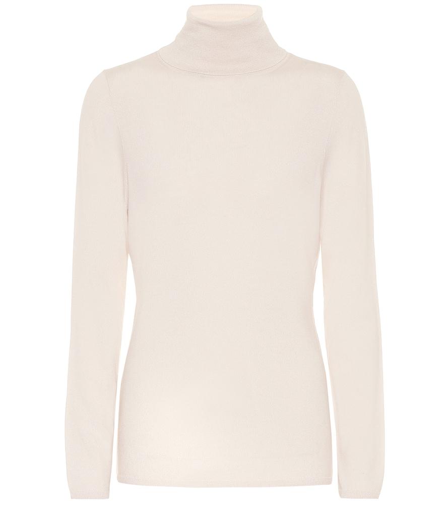 Virgin wool turtleneck sweater