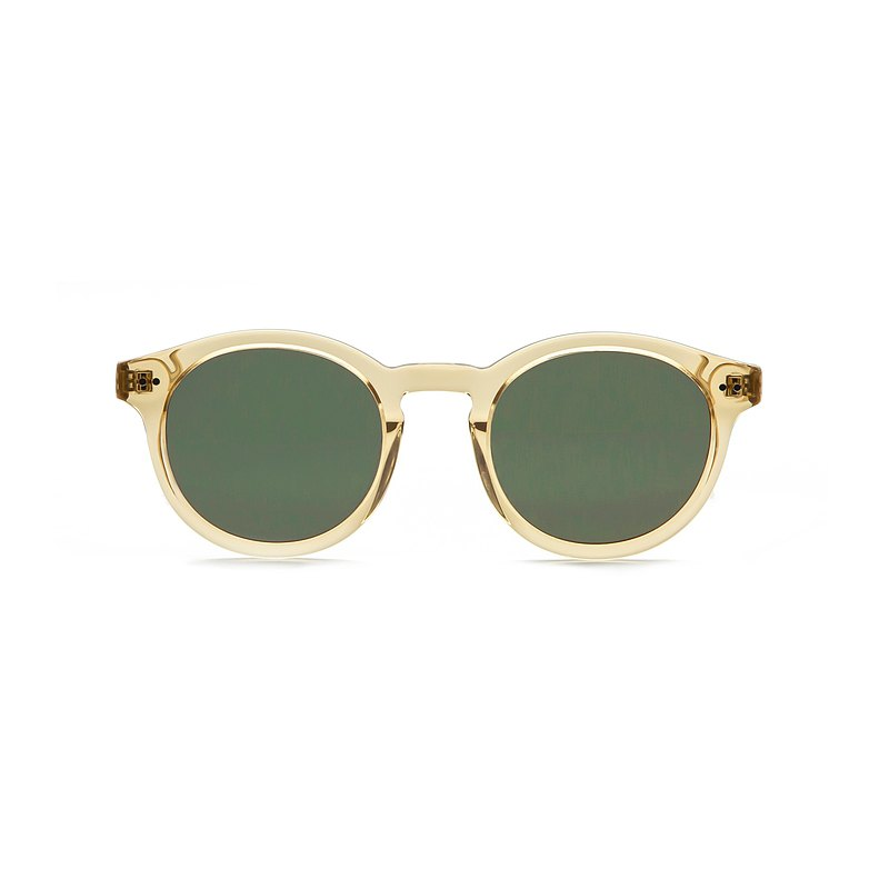 經典波士頓淡黃色墨鏡抗UV400太陽眼鏡  禮物| 夏裝