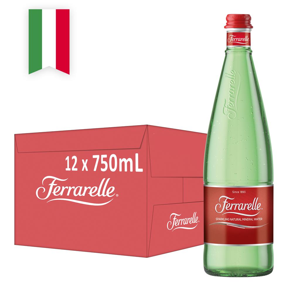 【Ferrarelle 法拉蕊】氣泡天然礦泉水750ml(12入/玻璃瓶)