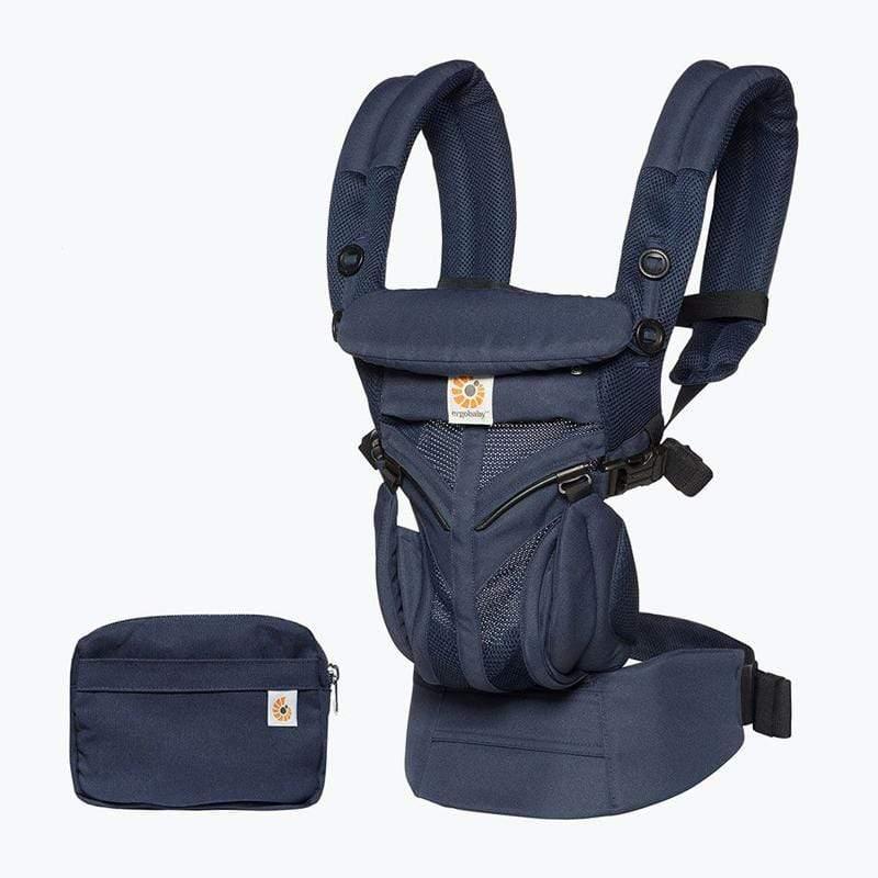 Omni全階段型四式360透氣款嬰兒揹巾/揹帶-午夜藍 F