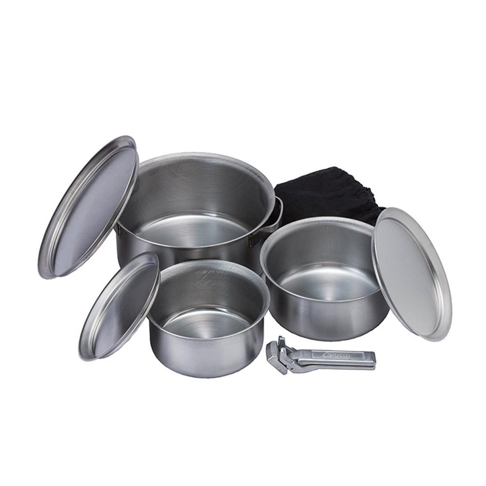 SOTO 戶外不銹鋼鍋具8件組 ST-950