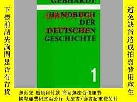 二手書博民逛書店【罕見】Handbuch der deutschen Gesch
