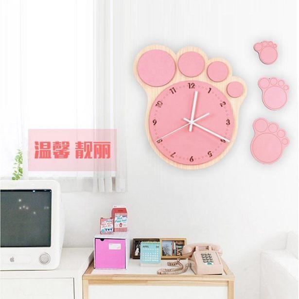 掛鐘 創意時尚個性田園客廳靜音掛鐘 卡通可愛兒童時鐘掛錶簡約大壁鐘全館免運限時優惠