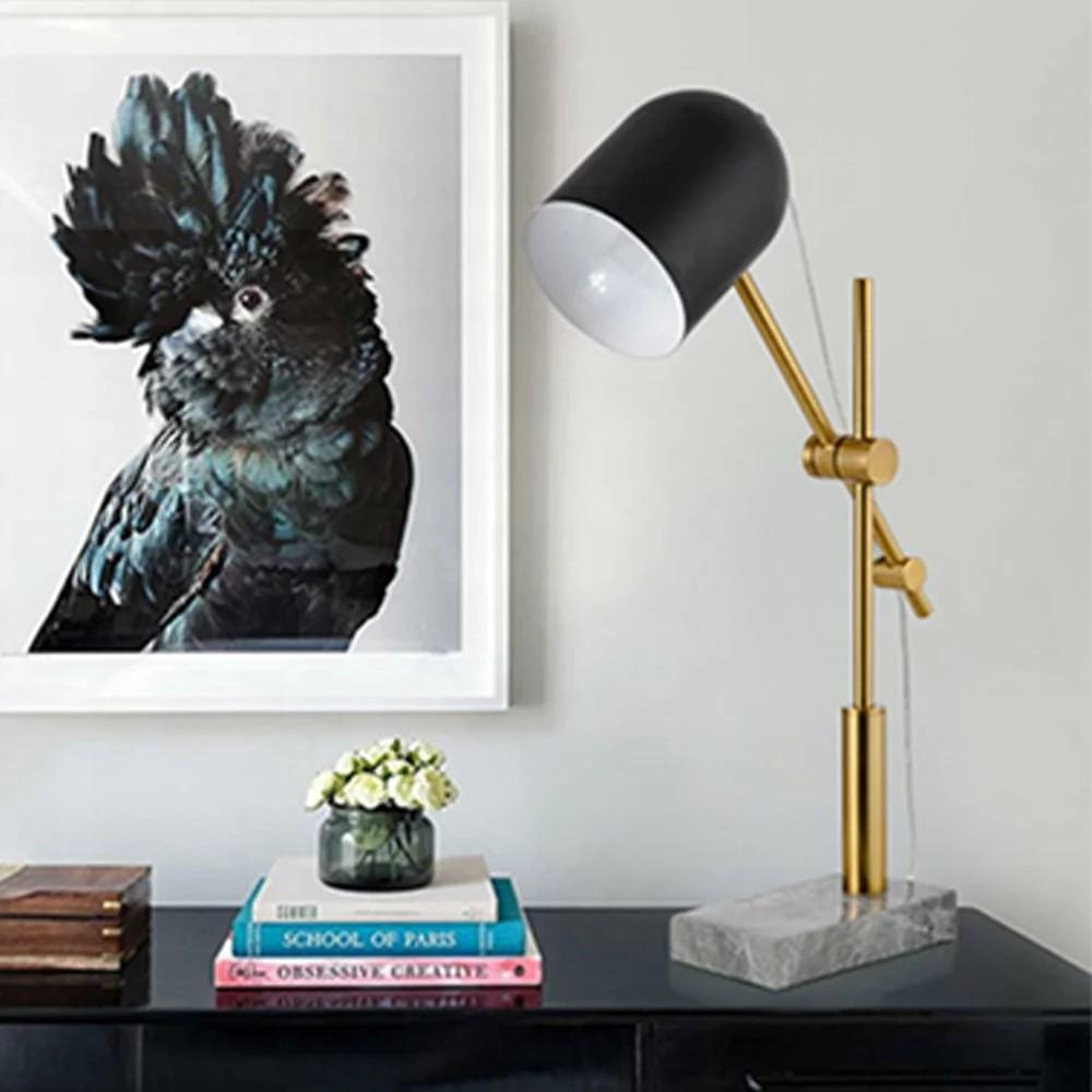 簡約現代 北歐時尚可調整大理石沉寂桌燈|現代風|簡約風流行燈飾 【實體門市】