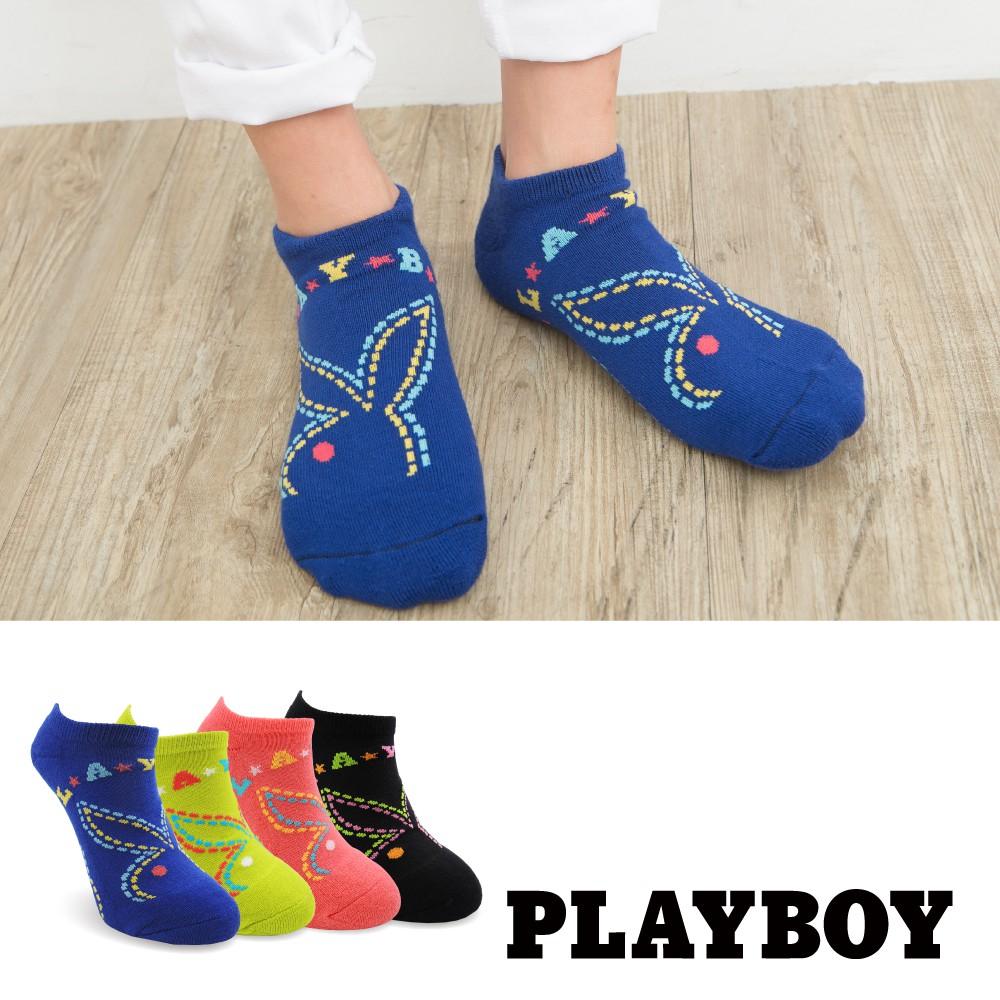 【PLAYBOY】線條遊樂園運動襪│襪子│女襪│短襪│舒適運動│高含棉異味OUT