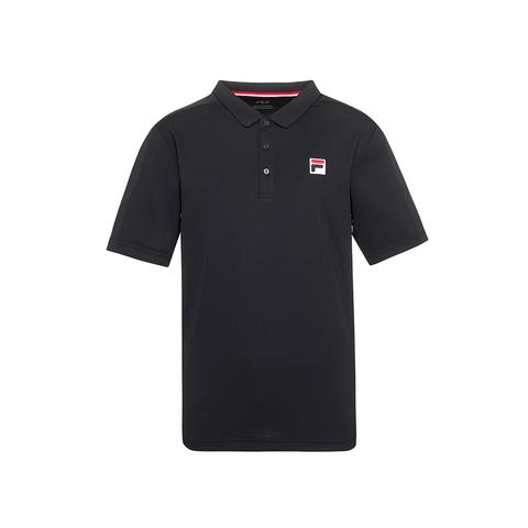 FILA 男吸排抗UV POLO衫-黑色 1POU-5003-BK
