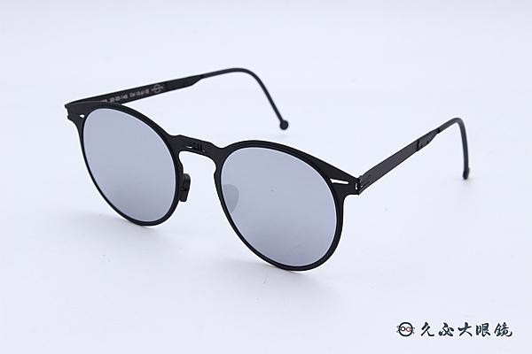 ROAV 偏光太陽眼鏡 Riviera - Mod.8103 ( 霧黑框/白水銀 ) 薄鋼折疊墨鏡