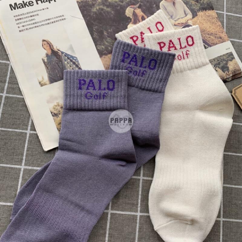 PAPPA WOCKS 美系休閒絲光長襪 買5送1 女 台灣製 絲光純棉 女生長襪 女生中長襪 休閒長襪 女生字母襪