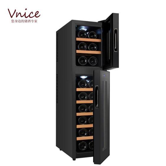 VNICE VN-18E紅酒櫃恒溫酒櫃子小型家用雙溫電子儲酒茶葉冷藏櫃