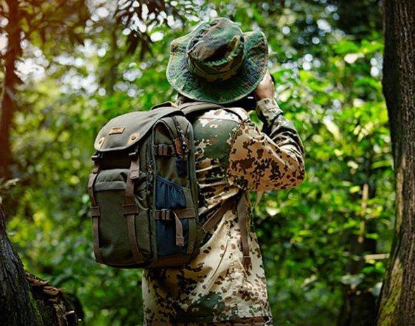 攝影包 攝影包後背大容量地理帆布佳能專業單反數碼相機背包 家 秋冬新品特惠