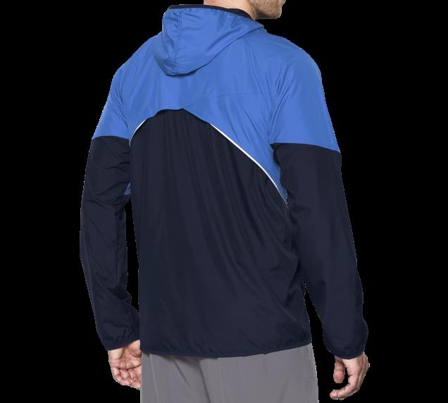 UNDER ARMOUR【1279886-907】UA 外套 慢跑 運動外套 防潑水 透氣 水藍深藍 男生