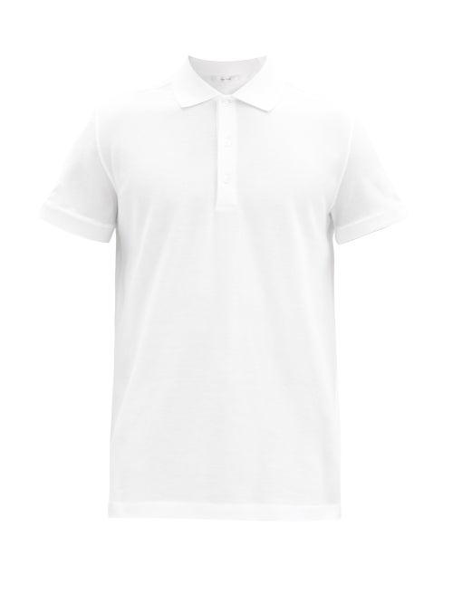 The Row - Nahor Cotton-piqué Polo Shirt - Mens - White