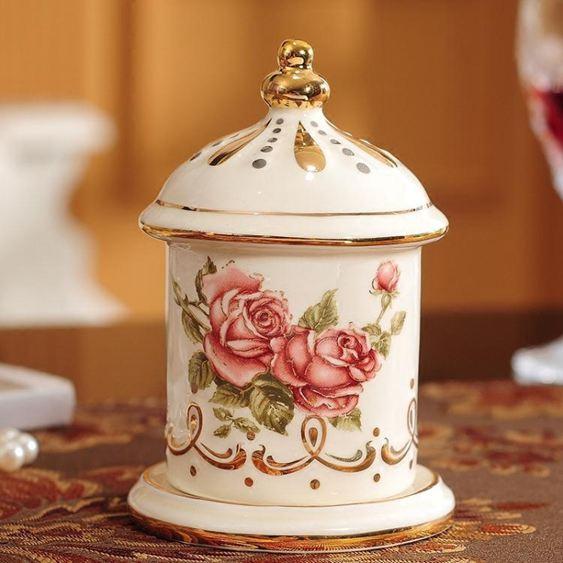 歐式陶瓷牙簽筒個性創意時尚家用牙簽盒牙簽罐棉簽盒收納兩用客廳