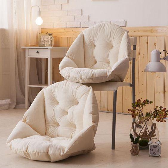 椅墊坐墊靠墊一體辦公室護腰靠背板凳電腦餐椅子藤椅連身墊子