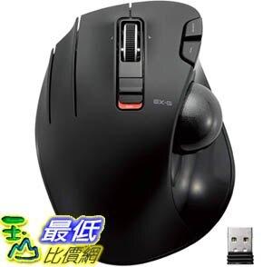 [9美國直購] 左手滑鼠 ELECOM M-XT4DRBK Wireless Trackball mouse for Left-Handed, EX-G series L size 2.4GHz 6