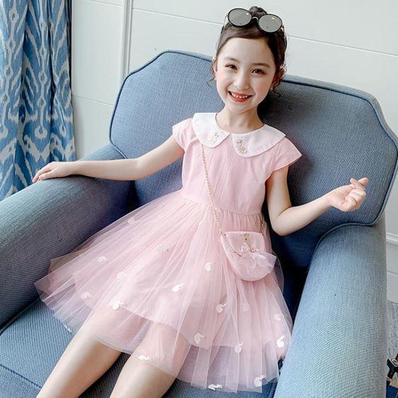 女童連衣裙夏裝新款洋氣夏季童裝小女孩公主裙蓬蓬紗兒童裙子