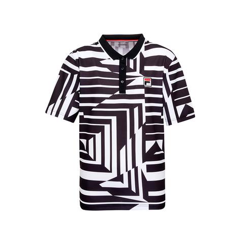 FILA 男吸排抗UV POLO衫-黑色 1POU-5002-BK