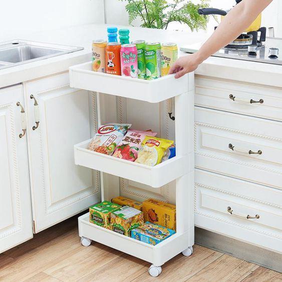 帶滑輪多層收納架廚房塑膠整理架落地式客廳置物架衛生間儲物架