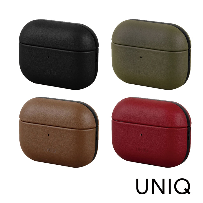 UNIQ Terra AirPods Pro 手工真皮收納保護套 配掛勾棕色