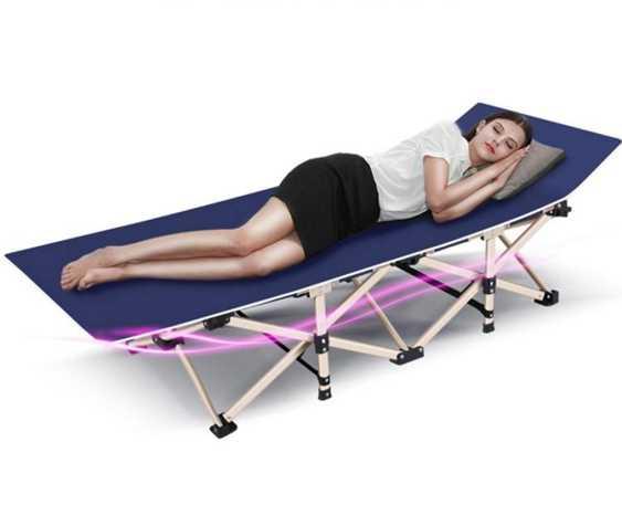 折疊床 耐樸辦公室陪護午睡躺椅單人午休折疊床簡易沙灘睡椅子便攜行軍床
